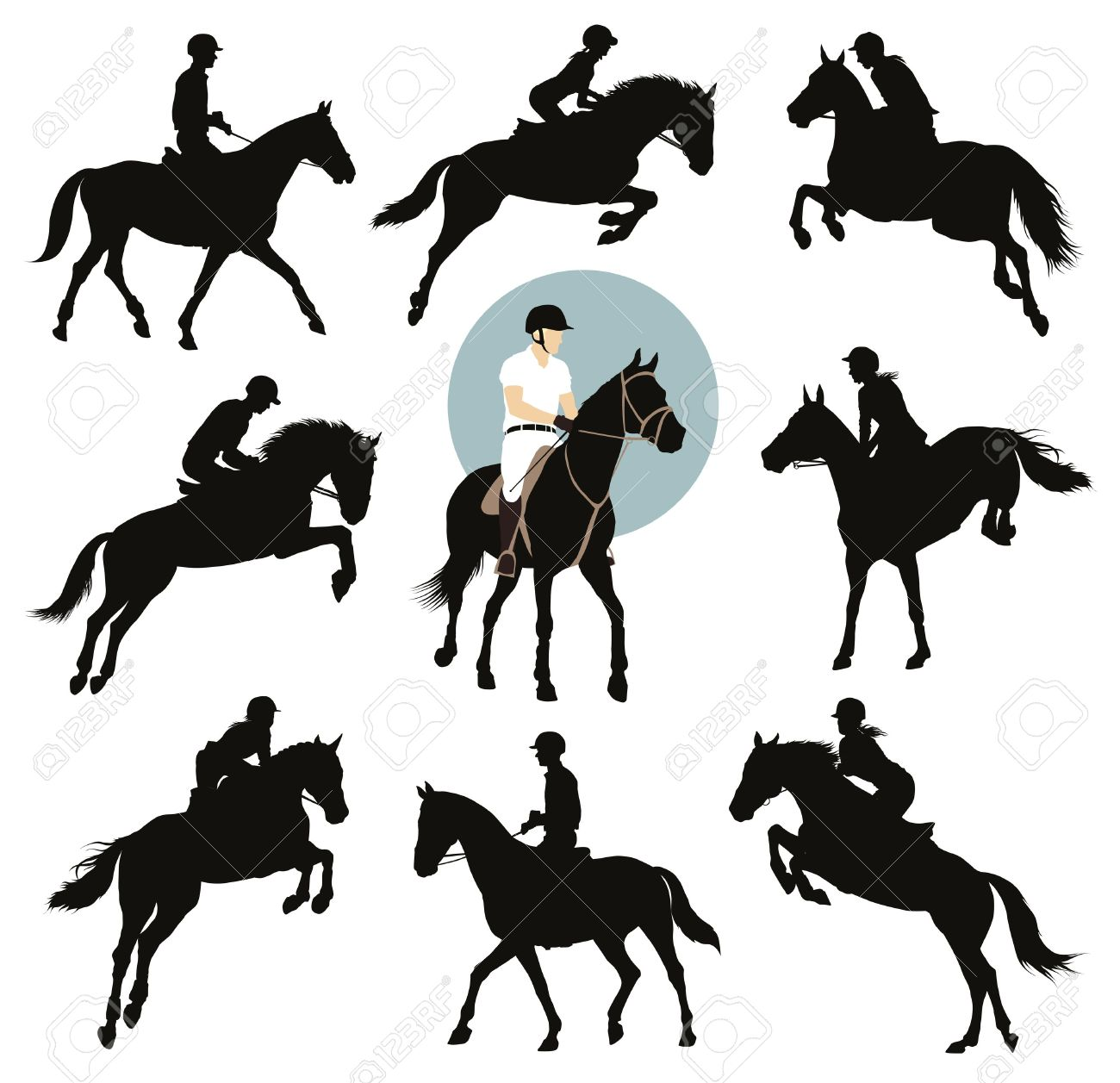 Clipart Cavalier Cheval Clipground