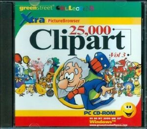 New Sealed, 25,000 Clipart Clip Art Vol. 3 Xtra Picture Browser PC.