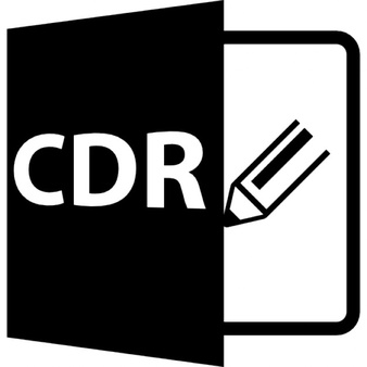 CDR file format symbol Icons.