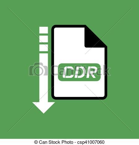 Clip Art Vector of download cdr file symbol.