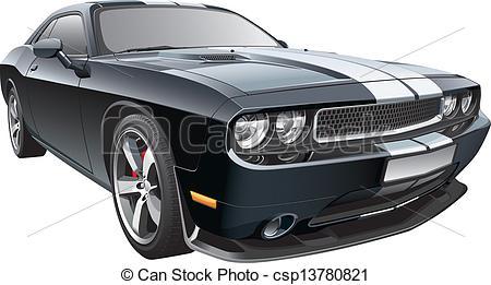 Vector Illustration of American pony car.cdr.