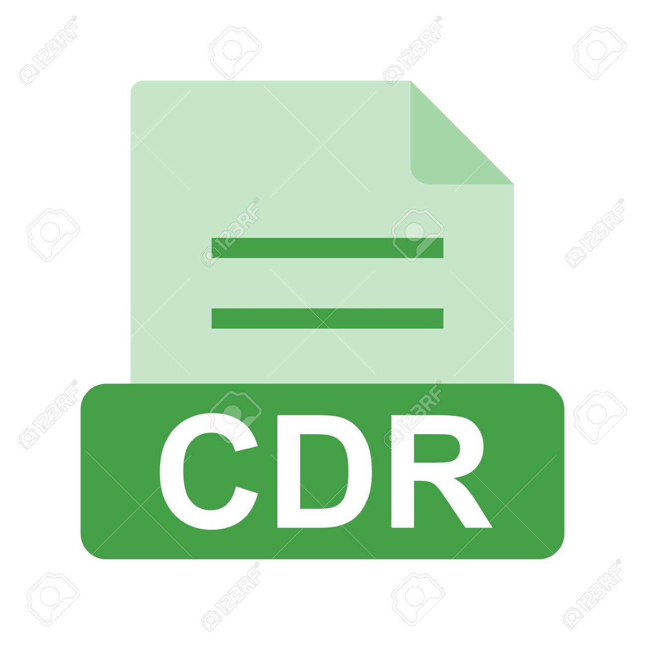 CDR File Icon Royalty Free Cliparts, Vectors, And Stock.