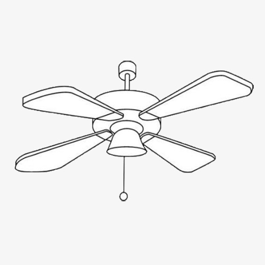 Ceiling fan clipart 4 » Clipart Station.