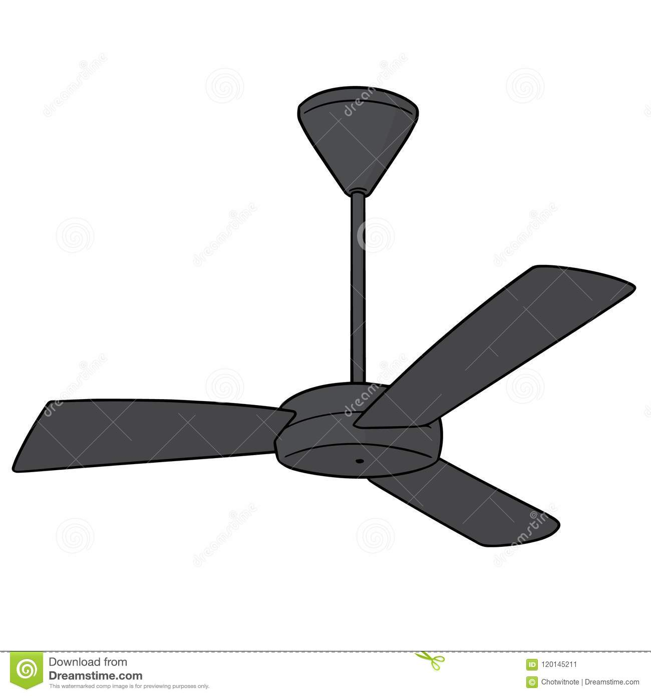 Vector of ceiling fan stock vector. Illustration of clipart.