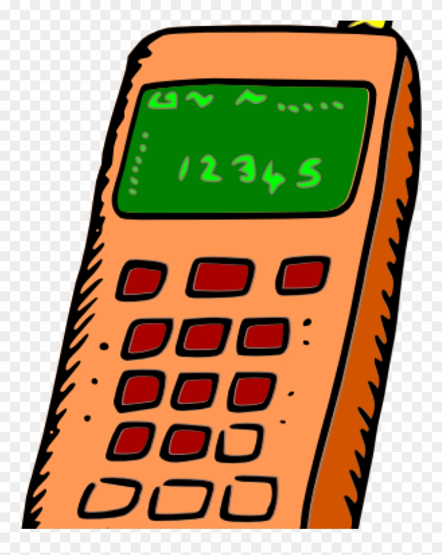 Mobile Phone Clipart Image Of Cellphone Clipart 6080.