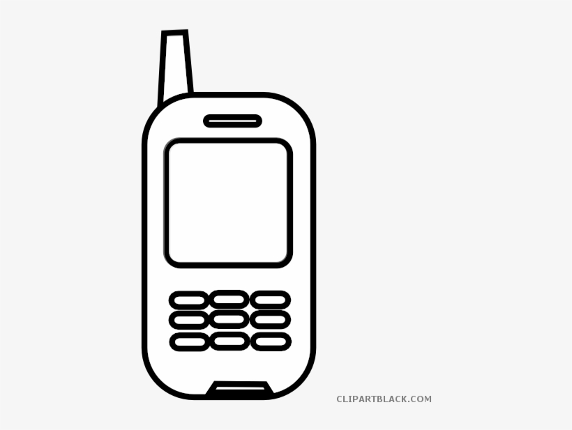 Jpg Free Library Cell Phone Black And White Clipart.