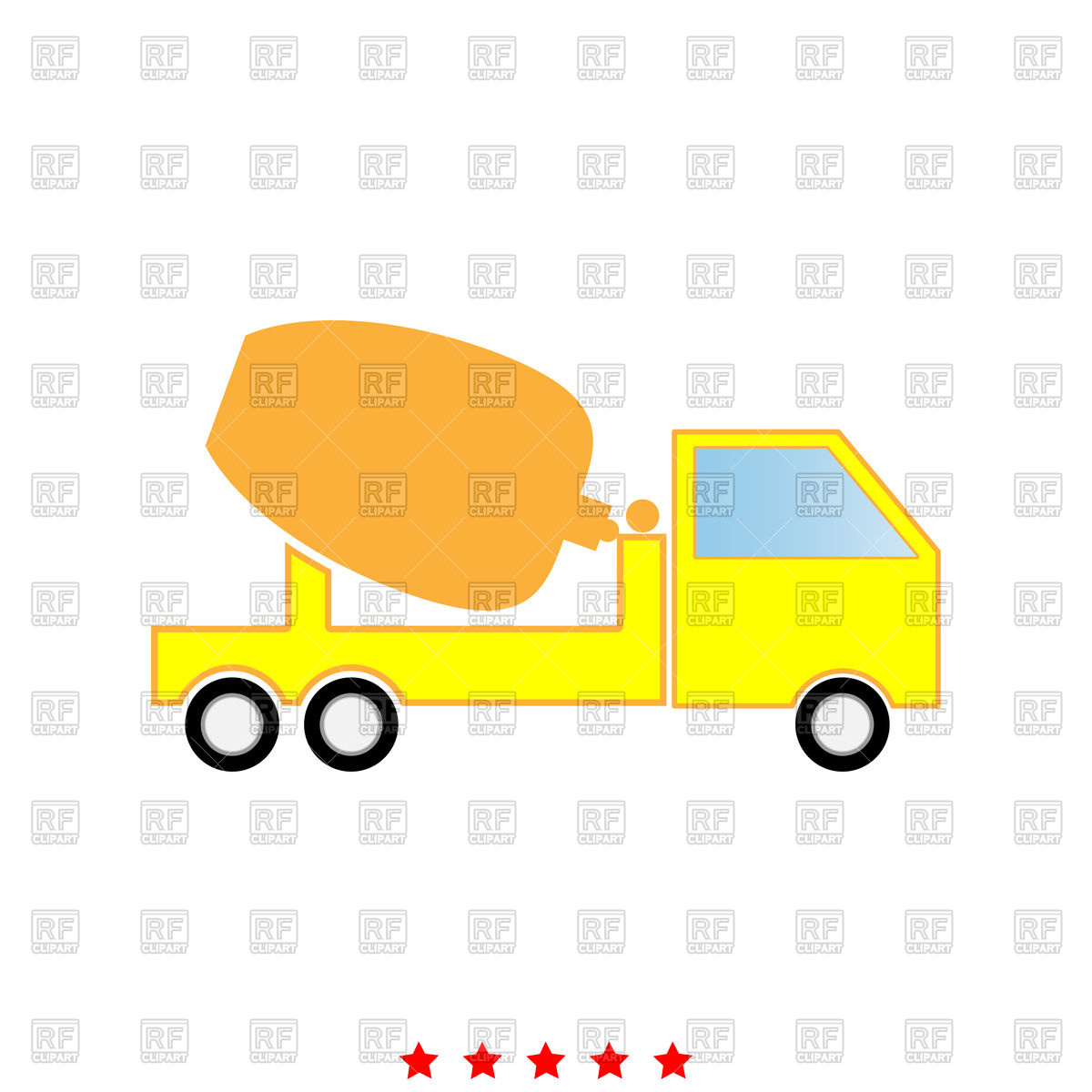 Cement mixers truck icon Stock Vector Image.