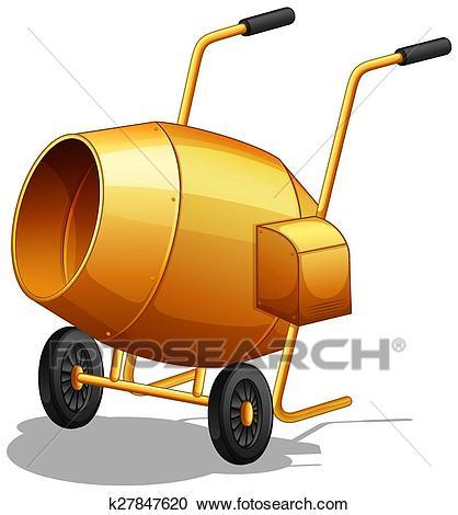 Cement Mixer Clipart.