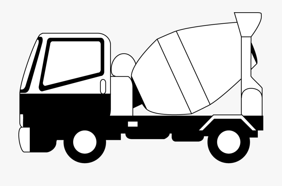 Cement Truck Clip Art.