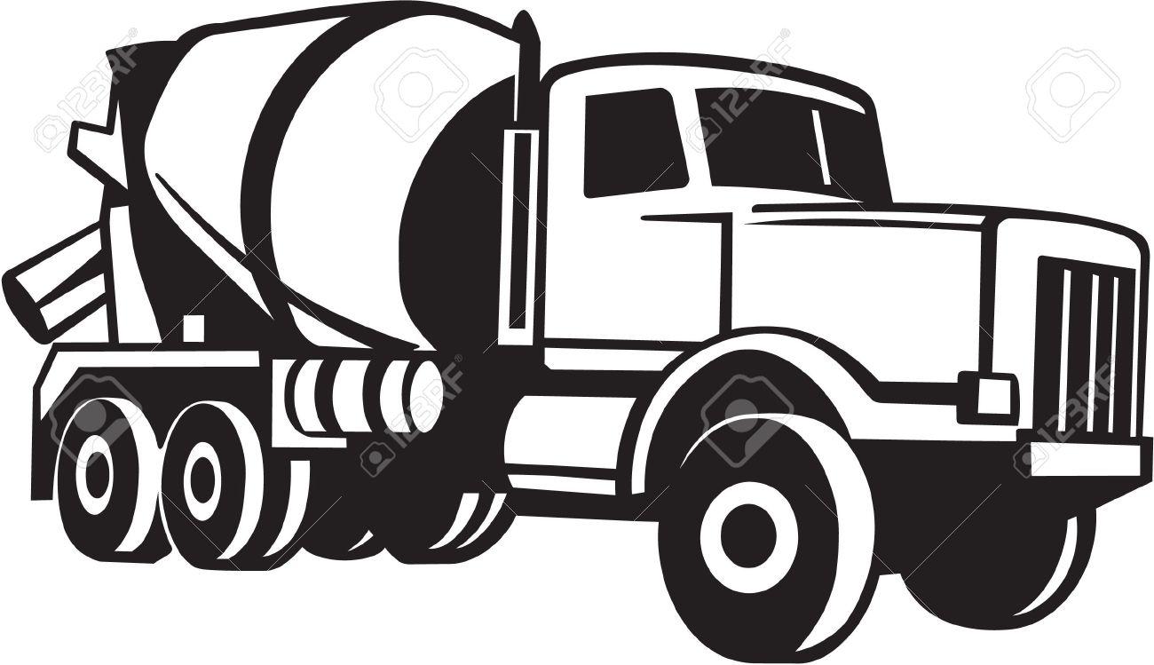 Cement Mixer Truck Vinyl Ready.