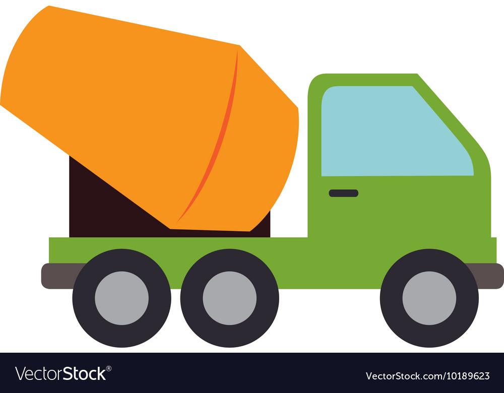 Concrete mixer truck cement icon graphic vector image.