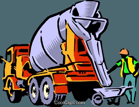 Cement mixer Royalty Free Vector Clip Art illustration.