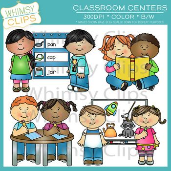 Classroom Centers Clip Art Set One {Whimsy Clips School Clip.