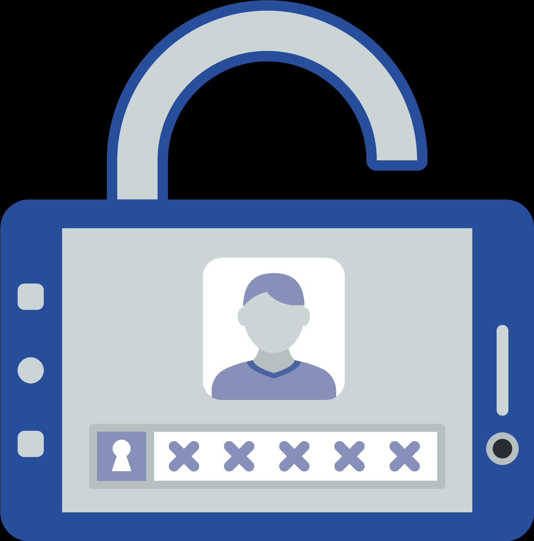 Centralized Authentication Clipart.