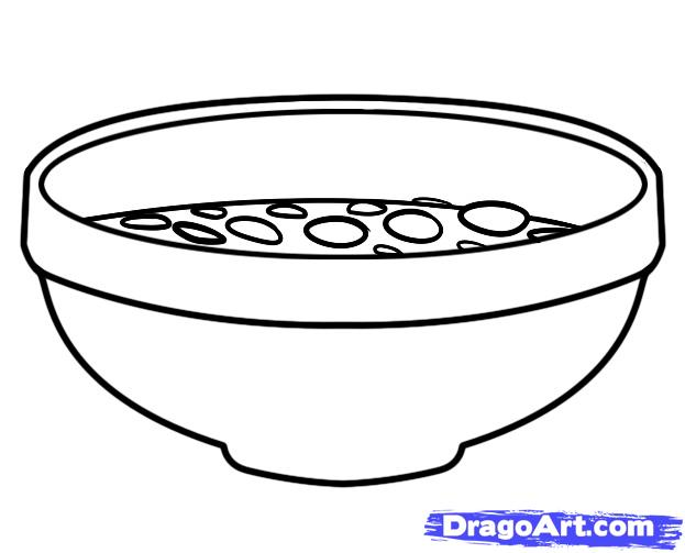 How to Draw Cereal, Cereal, Step by Step, Food, Pop Culture, FREE.