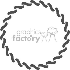 circle chain design vector clipart. Royalty.