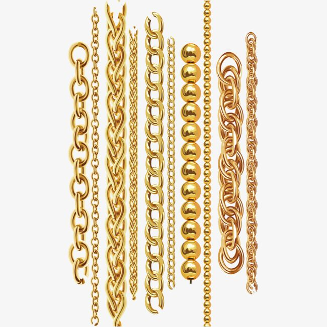 Vector Gold Chain, Vector Diagram, Chain, Gold Chain PNG.