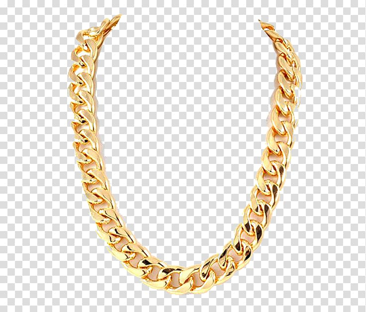 Chain Gold Necklace, Thug Life Gold Chain s, gold.