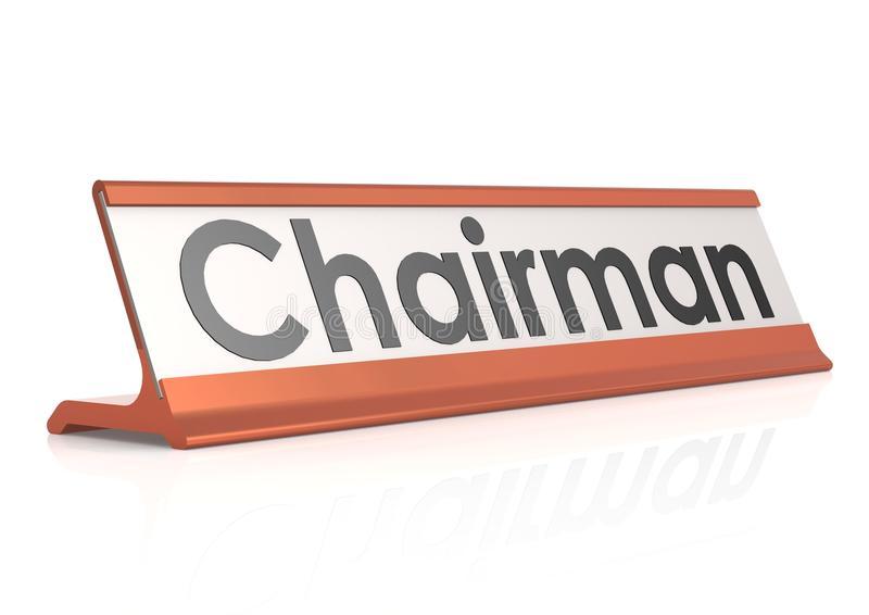 Chairman Tag Stock Illustrations.