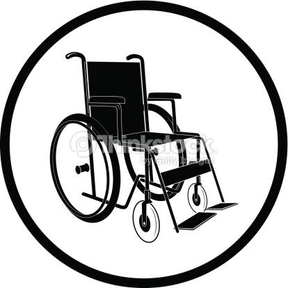 Chaise Non Valide Clipart vectoriel.