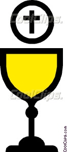 Symbol of a chalice with host Vector Clip art.