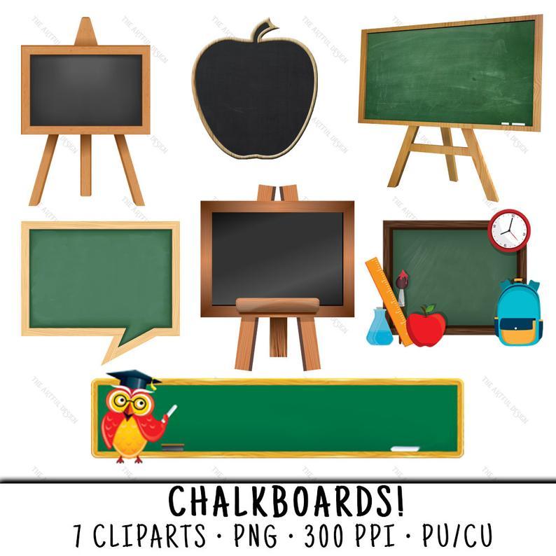 Chalkboard Clipart, School Clipart, Chalkboard Clip Art, Blackboard  Clipart, School Clip Art, Teacher Clip Art, Chalkboard PNG, School PNG.