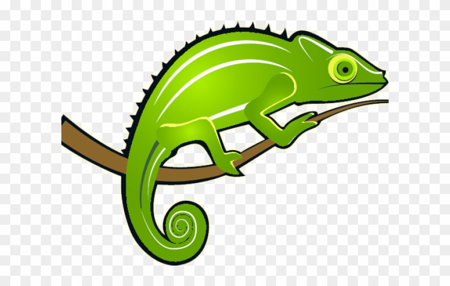 Monitor Lizard Clipart Colour.
