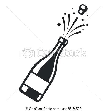 Champagne bottle pop.