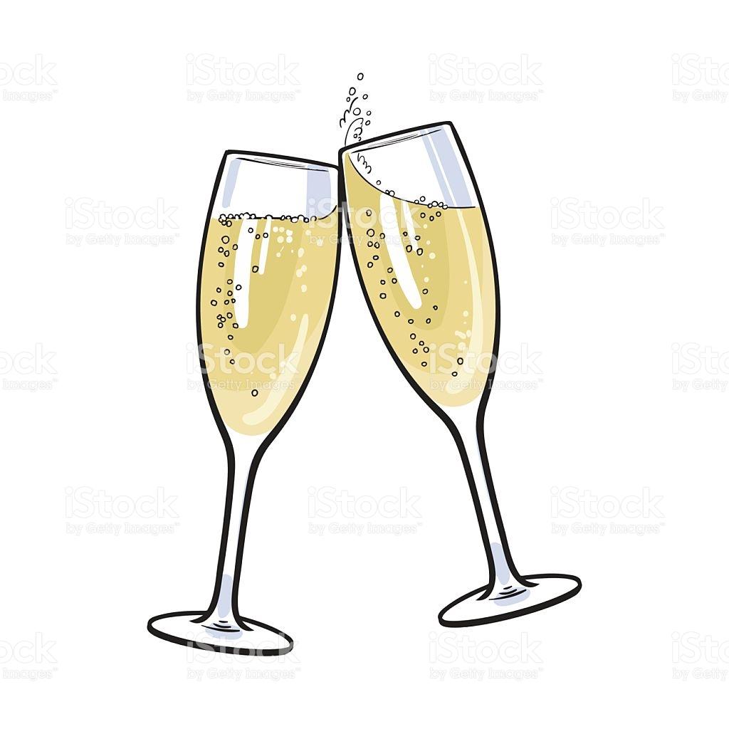 Champagne Flutes Clipart.
