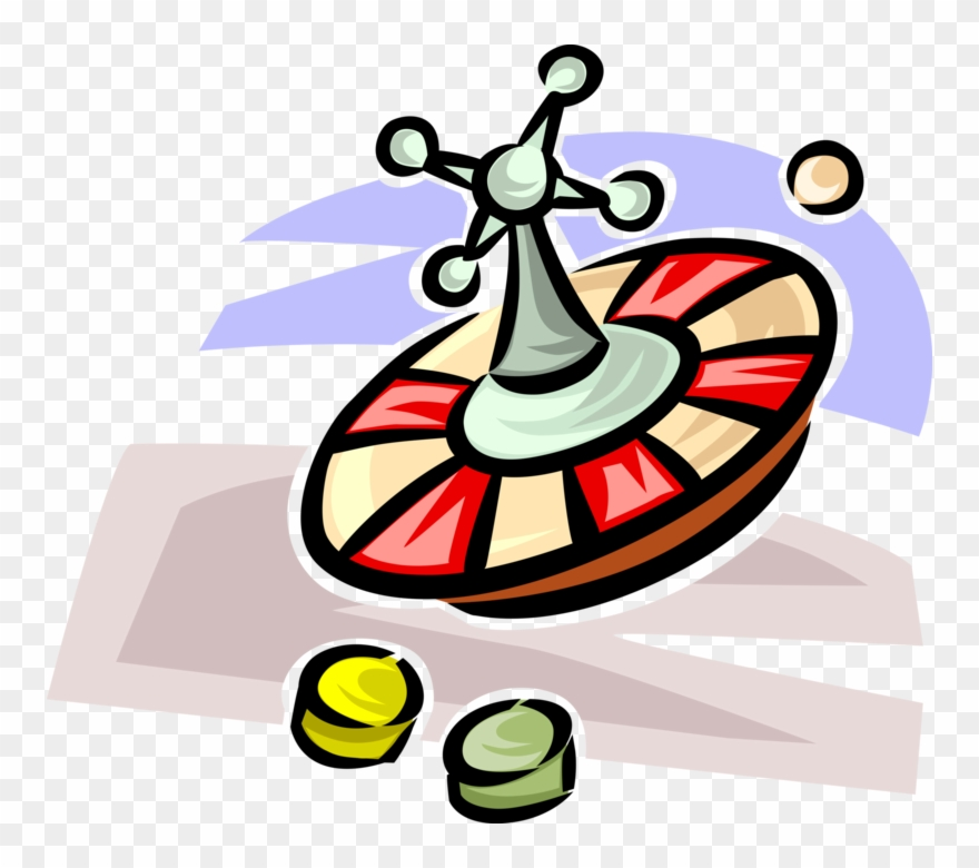 Vector Illustration Of Casino Gambling Games Of Chance.