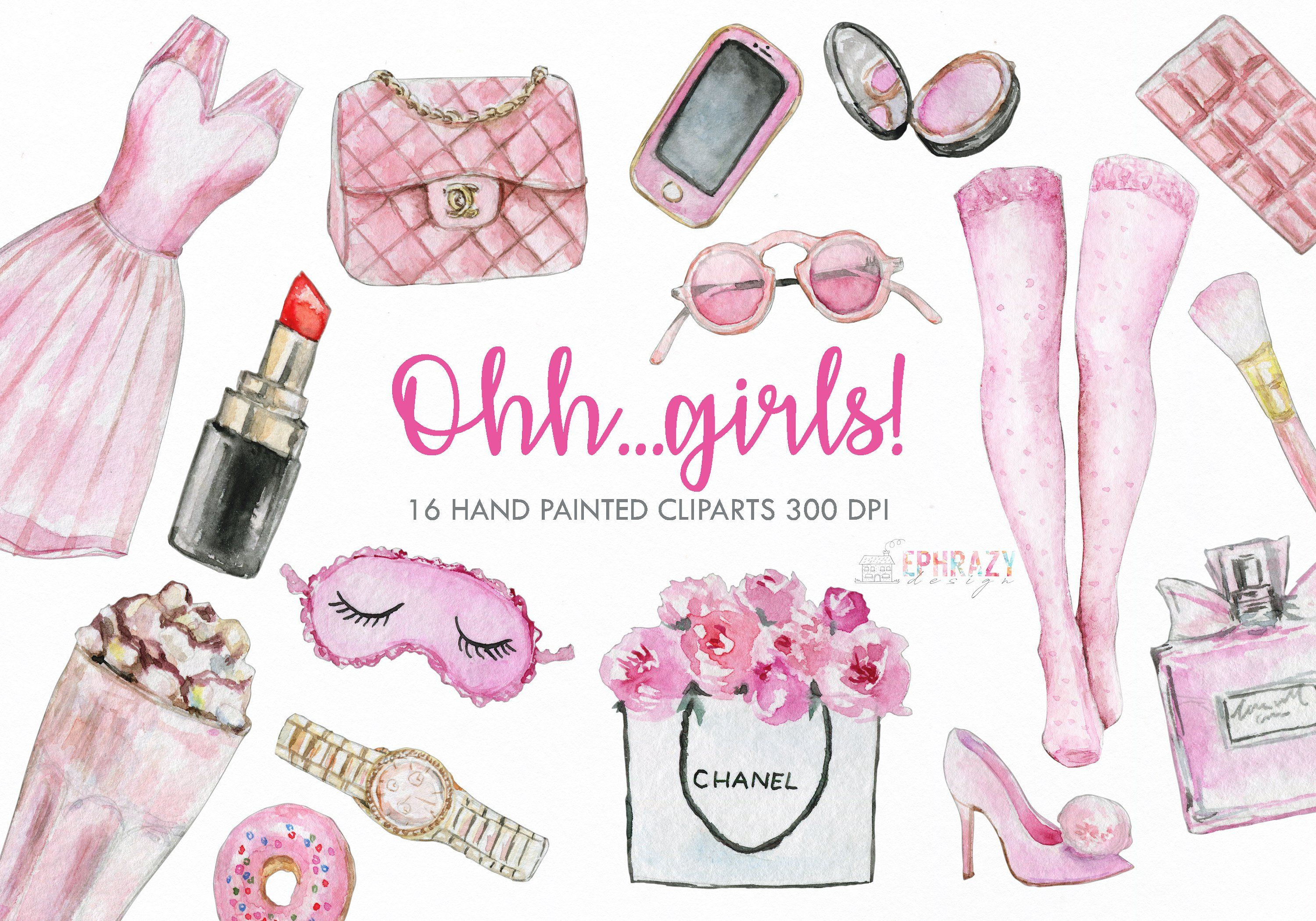 Girl clipart. Watercolor #size#background#aprox#transparent.