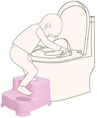 CQILONG Bathroom Foot Stool 2 Step For Kids Change Shoe.