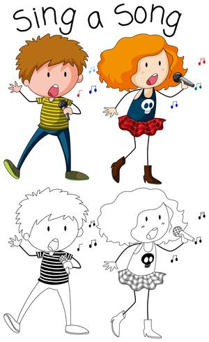 Doodle, chanteur et chanteuse.