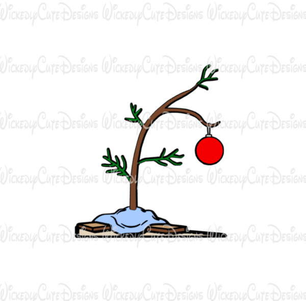 Charlie Brown Christmas Tree SVG, DXF, EPS, PNG Digital File.