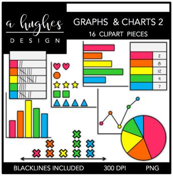 Graphs & Charts 2 Clipart {A Hughes Design}.