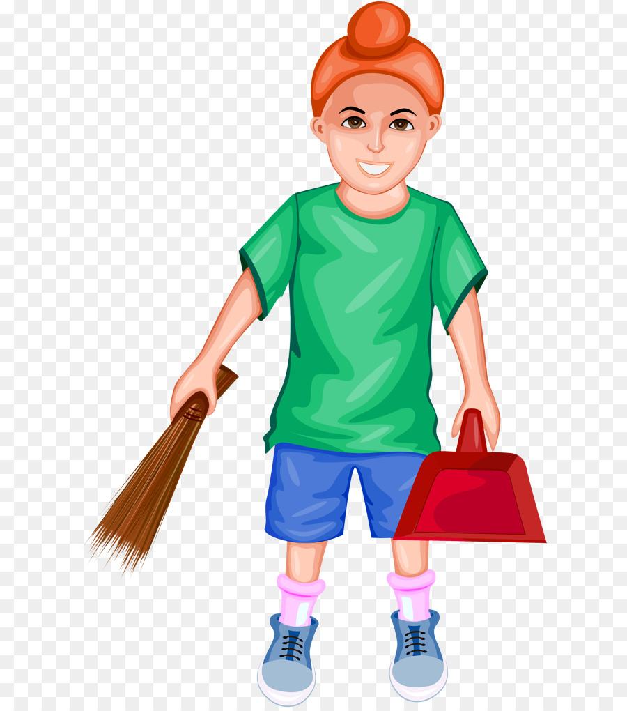cartoon clip art broom play charwoman.