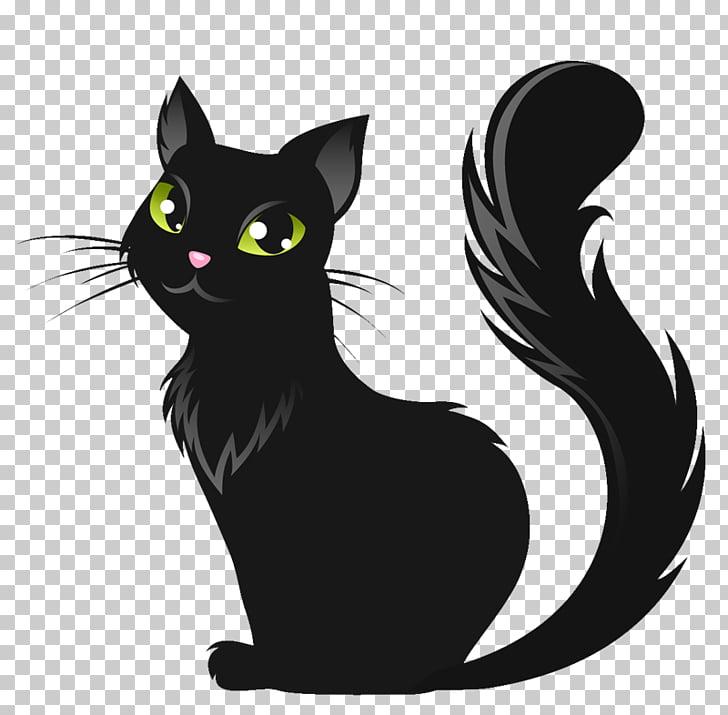 Black cat Kitten Le Chat Noir, Cat PNG clipart.
