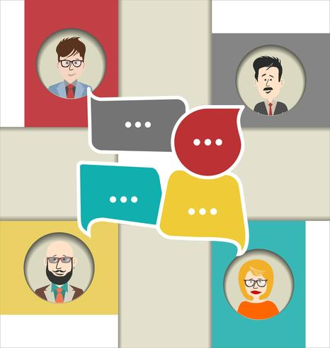 Modern vector illustration of online chat.