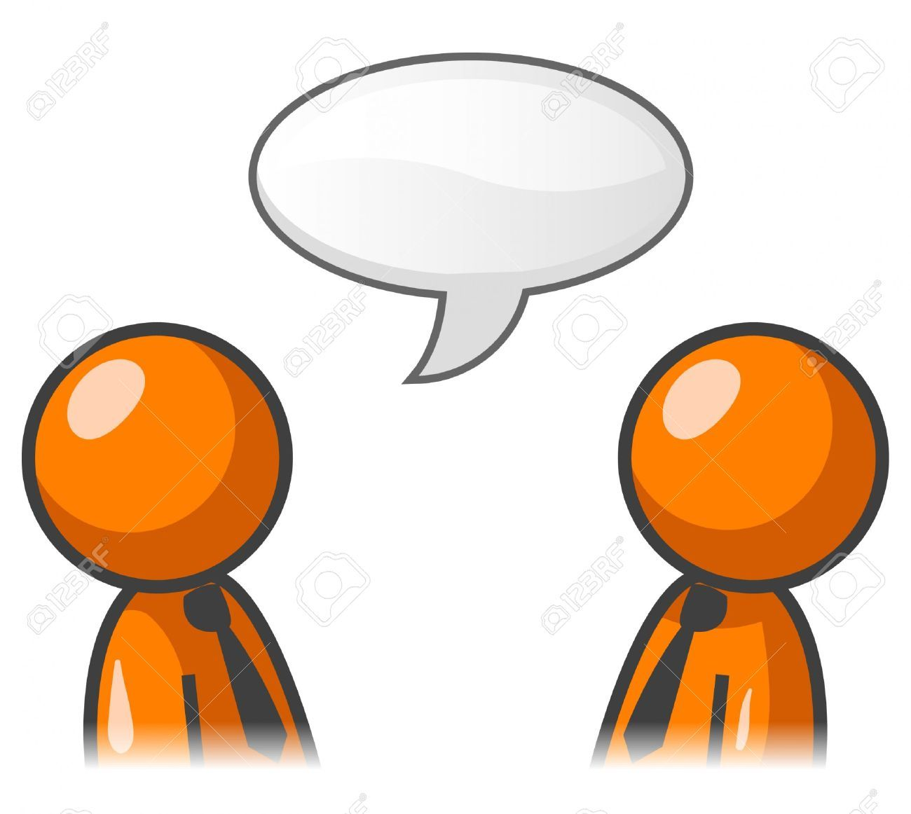 two people communicating clipart.
