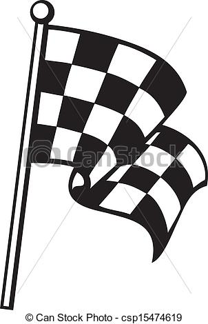 Free Clip Art Checkered Flag, Race Flag Free Clipart.