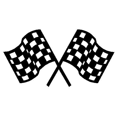 Free Clip Art Checkered Flag, Race Flag Free Clipart.