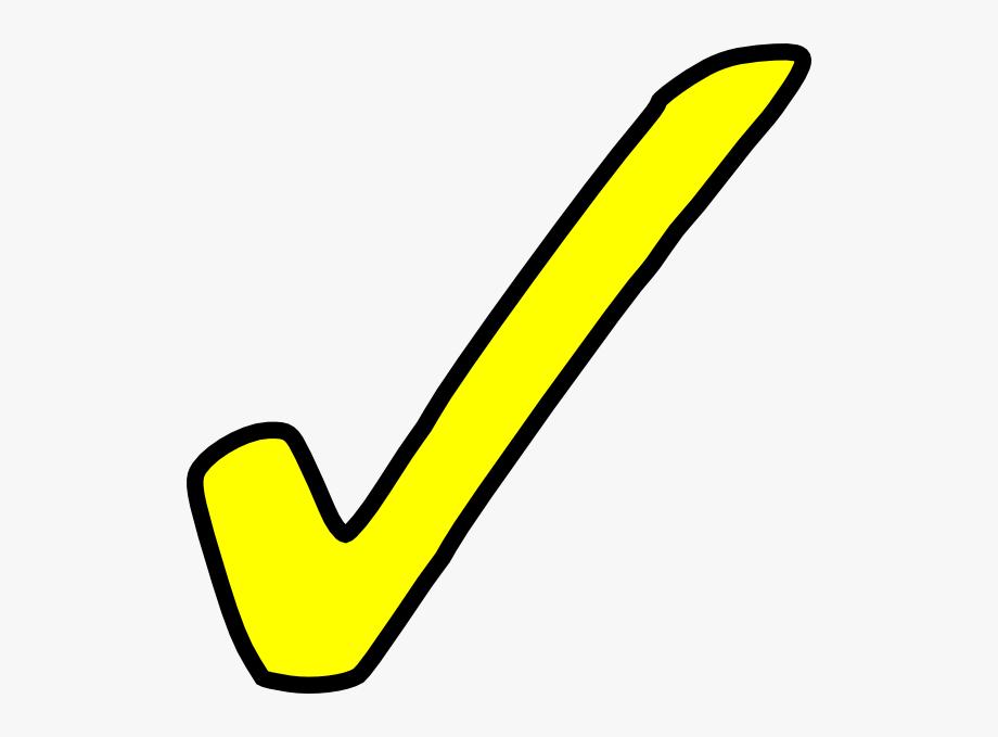 Checkmark Clipart Yellow.