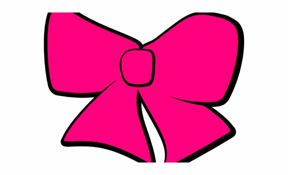 Pink Hair Clipart Cheer Bow.
