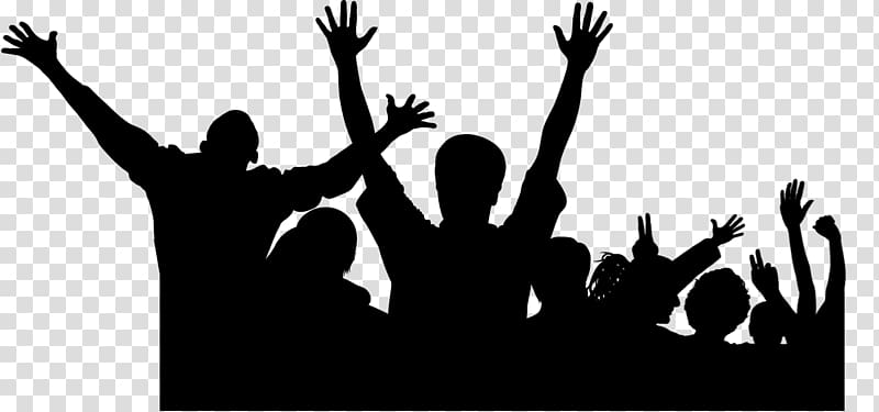 Crowd Cheering , shadow transparent background PNG clipart.