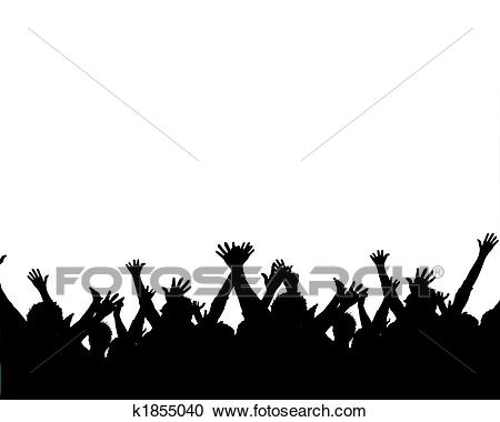 Cheering silhouettes Clipart.