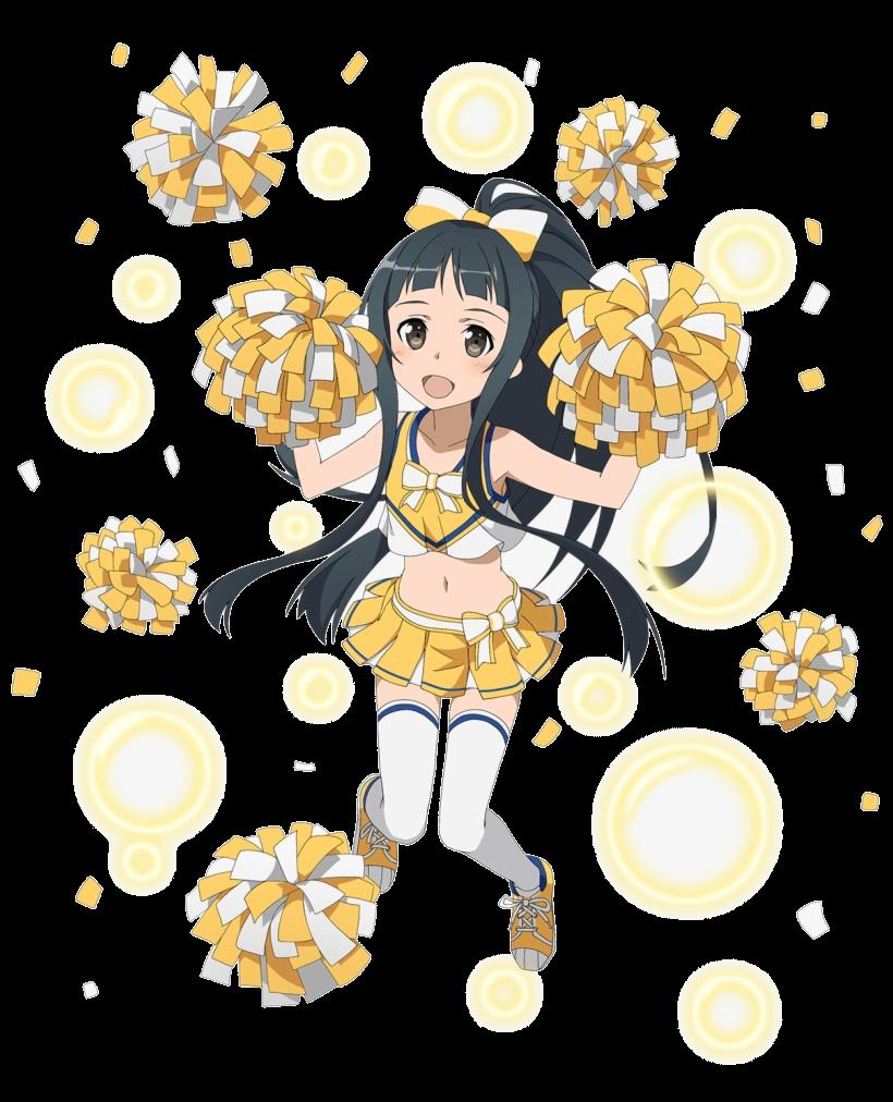 Sword Art Online Asuna Clipart Cheerleader Memory Defrag Yui Png.