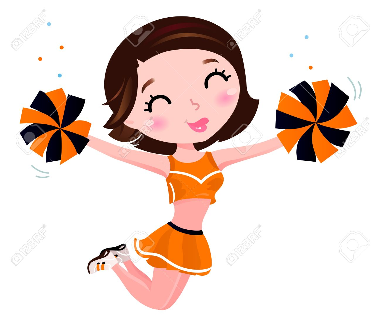 Orange clipart cheerleader.