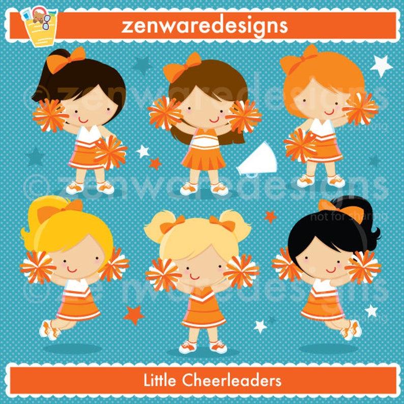 Orange Cheerleader Clipart.
