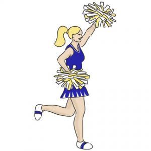 41+ Cartoon Cheerleader Clipart.