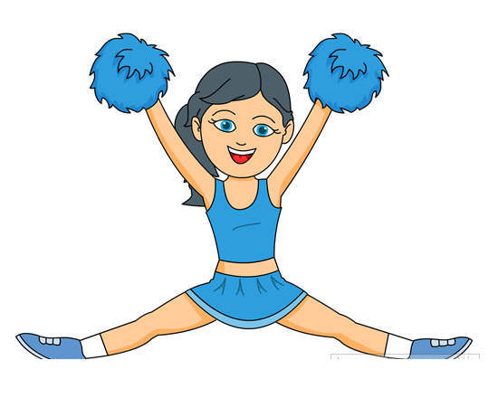 Cheerleading Cartoon Clipart Pictures Graphics Free Cheerleader.